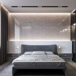 Кровать для спальни в стиле хай-тек