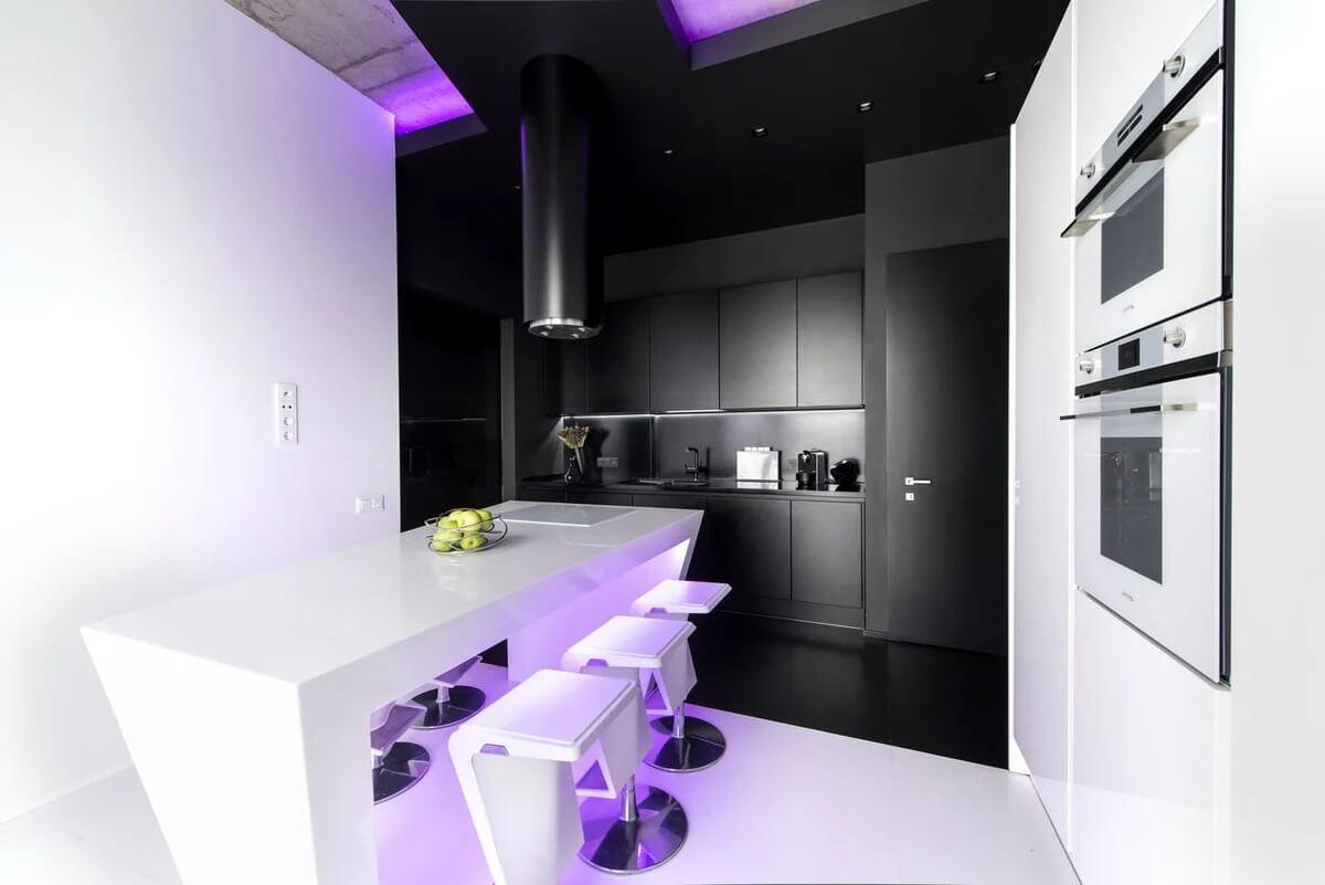 Кухня в стиле хай-тек - фото