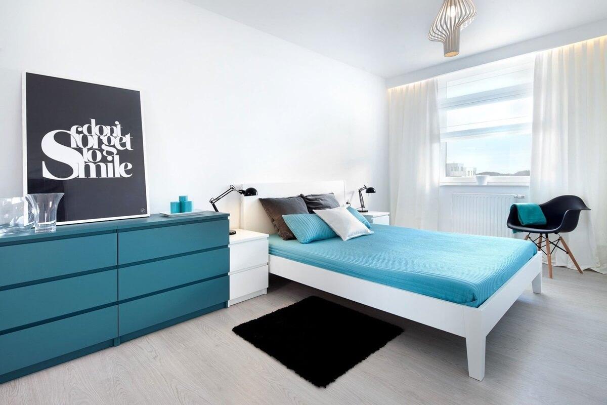 Освещение спальни в стиле хай-тек