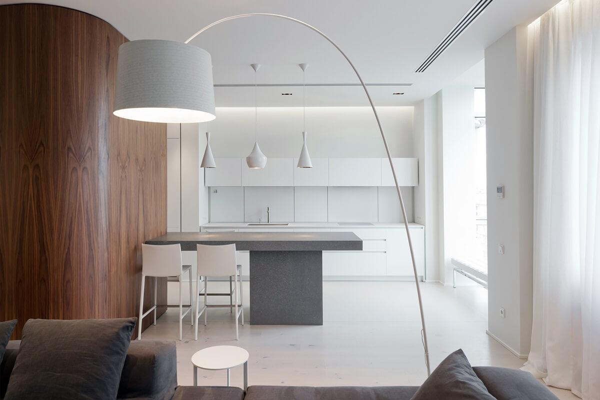 Отделка стен кухни в стиле хай-тек-фото