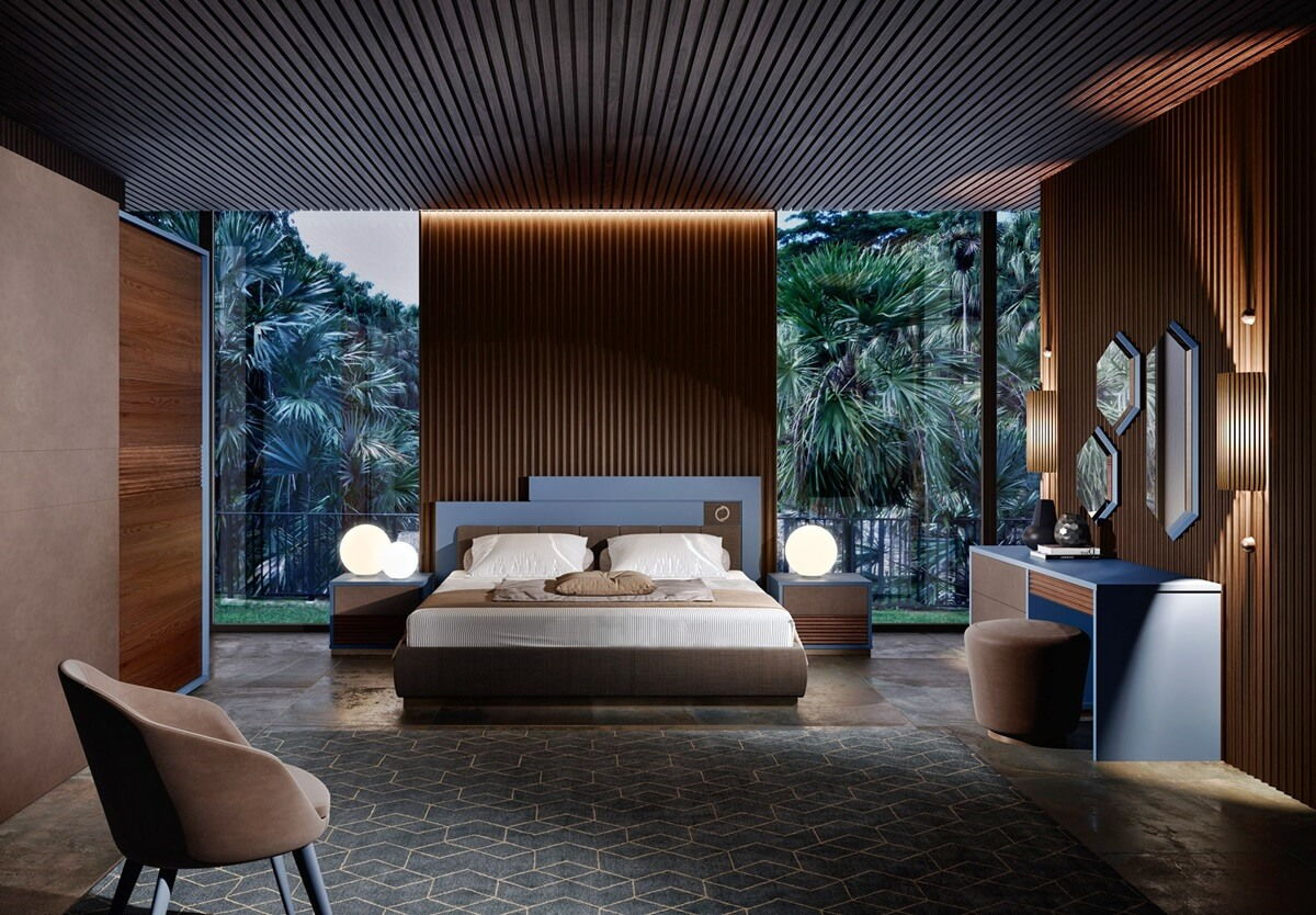 Спальня в стиле хай-тек фото