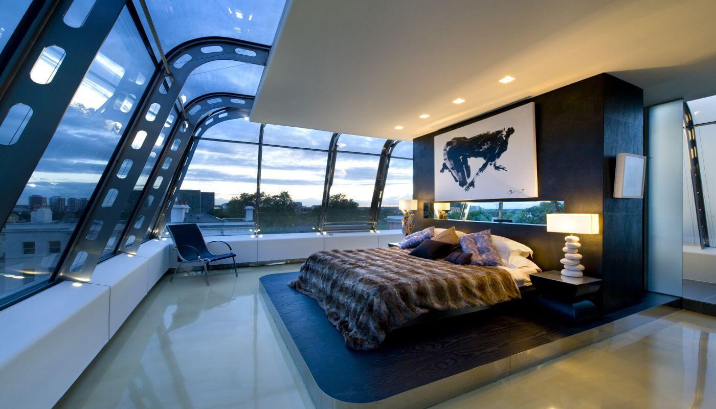 Спальня в стиле хай-тек - отделка пола (2)