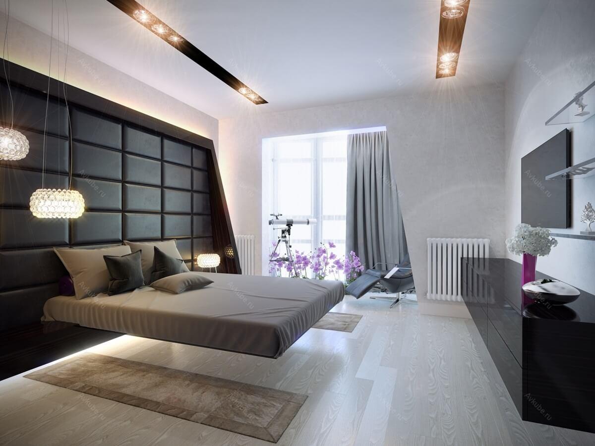 Спальня в стиле хай-тек - отделка пола (3)