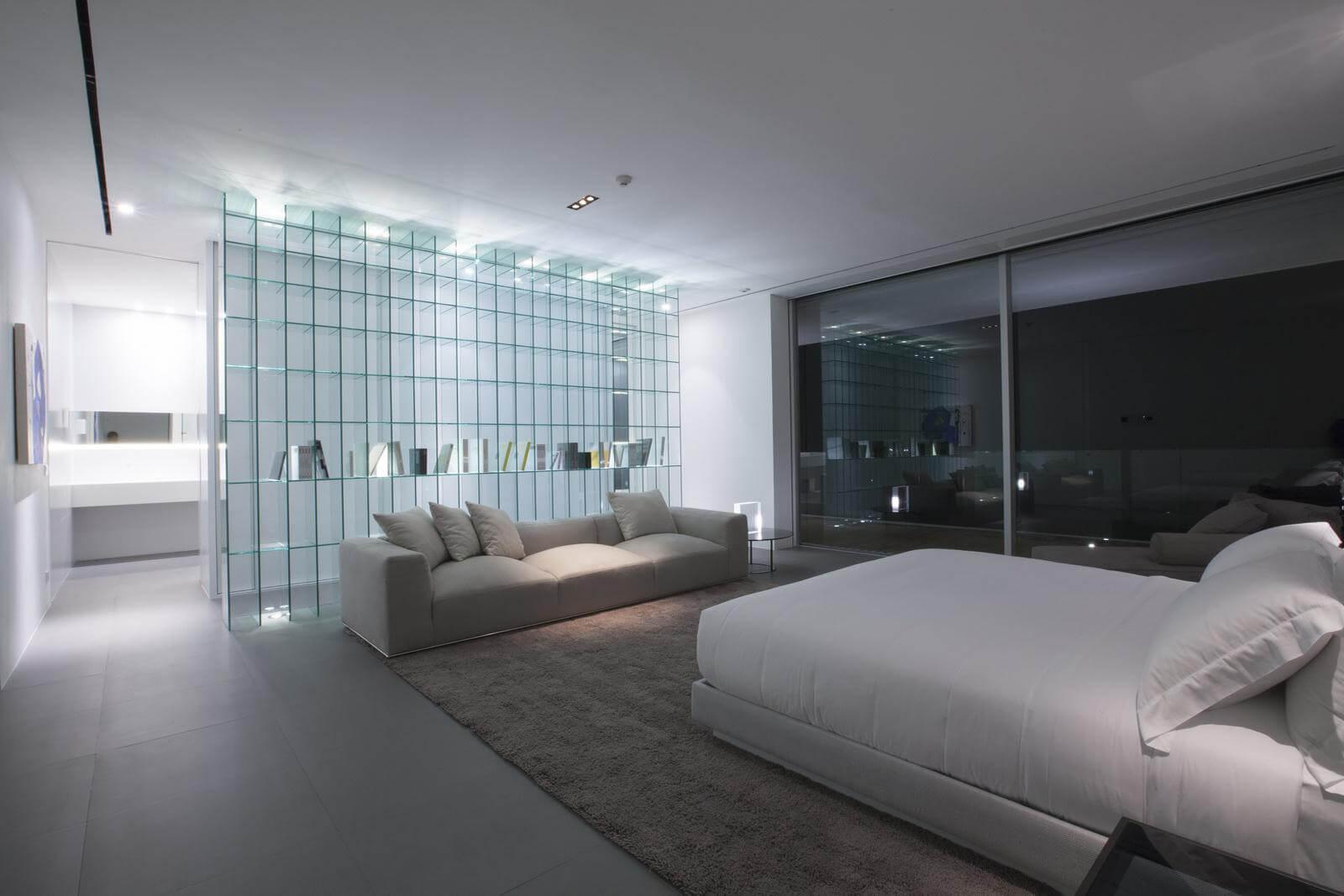 Спальня в стиле хай-тек - отделка пола