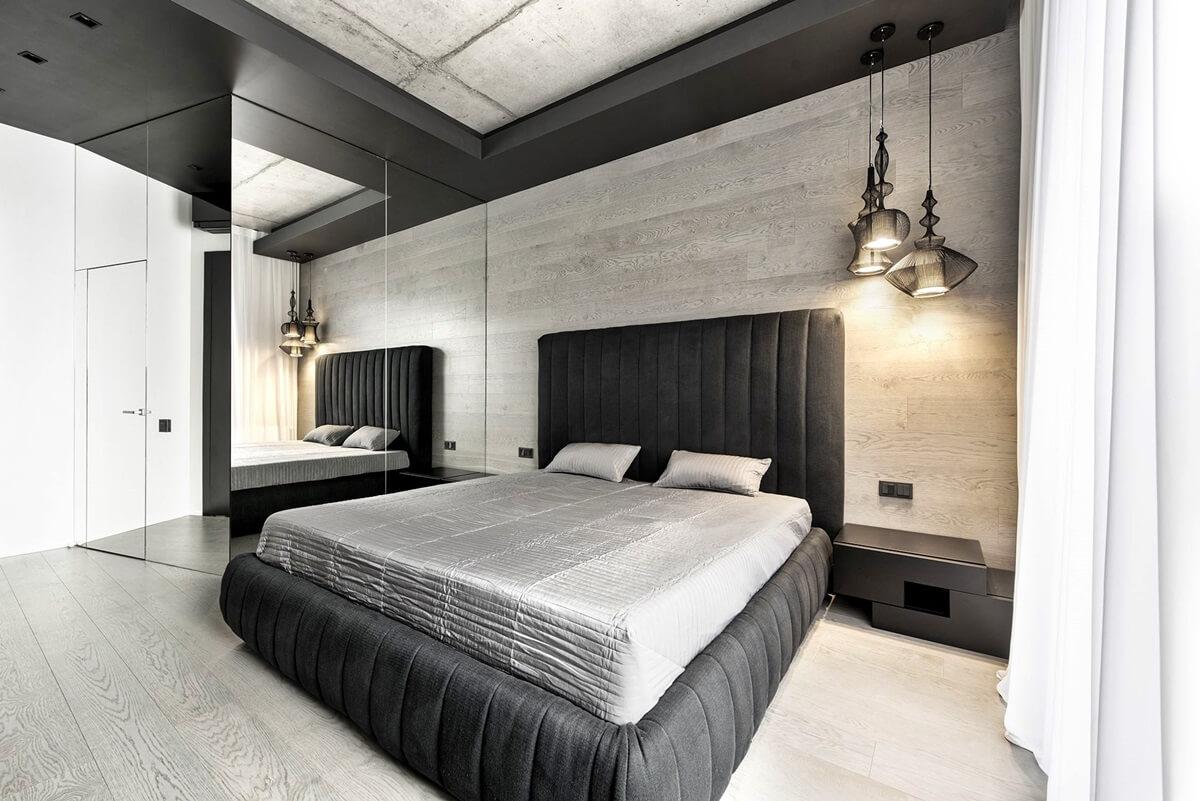 Спальня в стиле хай-тек - отделка потолка (3)