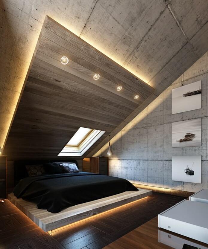 Спальня в стиле хай-тек - отделка стен (2)
