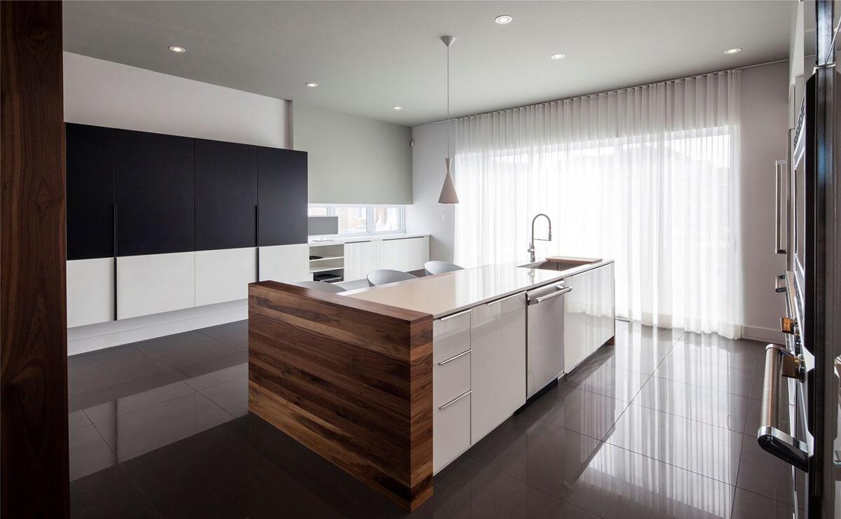Занавески для кухни в стиле хай-тек