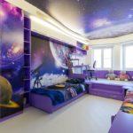 Матовый натяжной потолок - фото (55)