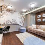 Матовый натяжной потолок - фото (56)
