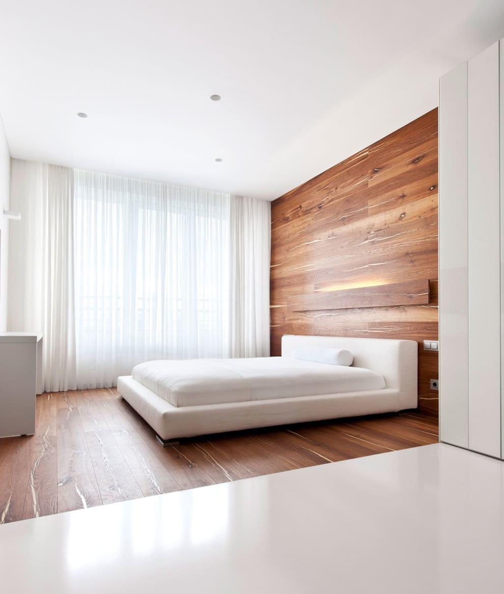 Оформление потолка спальни в стиле минимализм