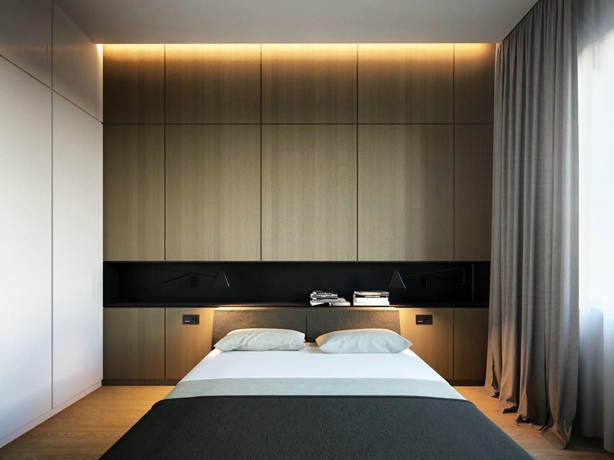 Освещение спальни в стиле минимализм