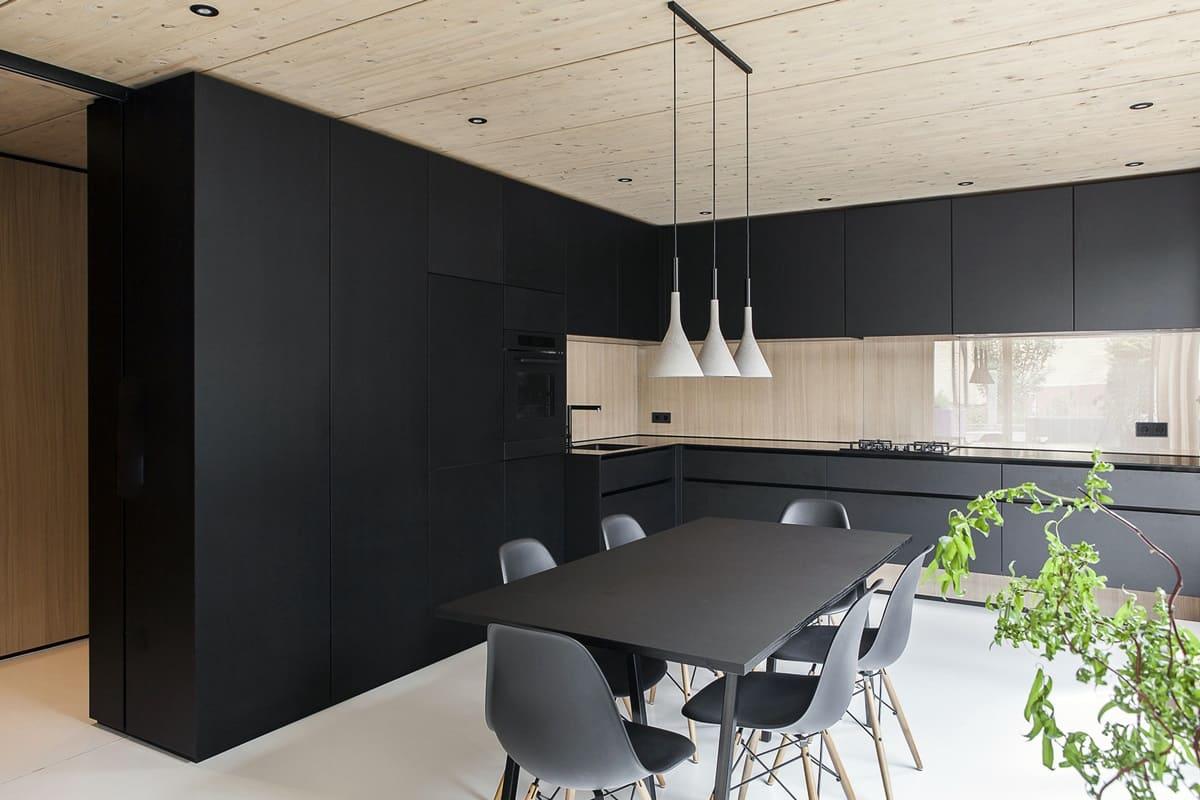 Потолок кухни в стиле минимализм - фото