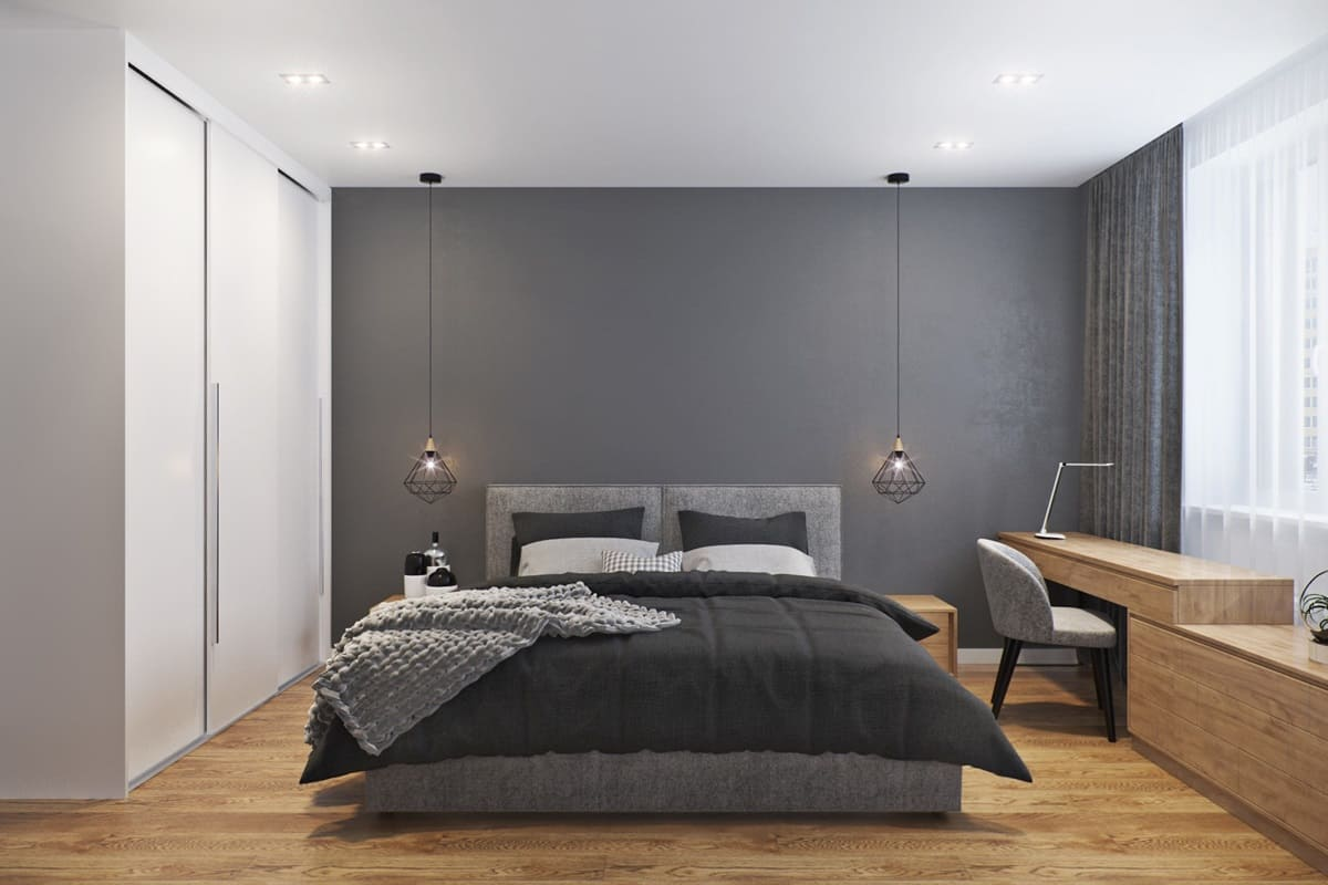 Шкаф-купе для спальни в стиле минимализм