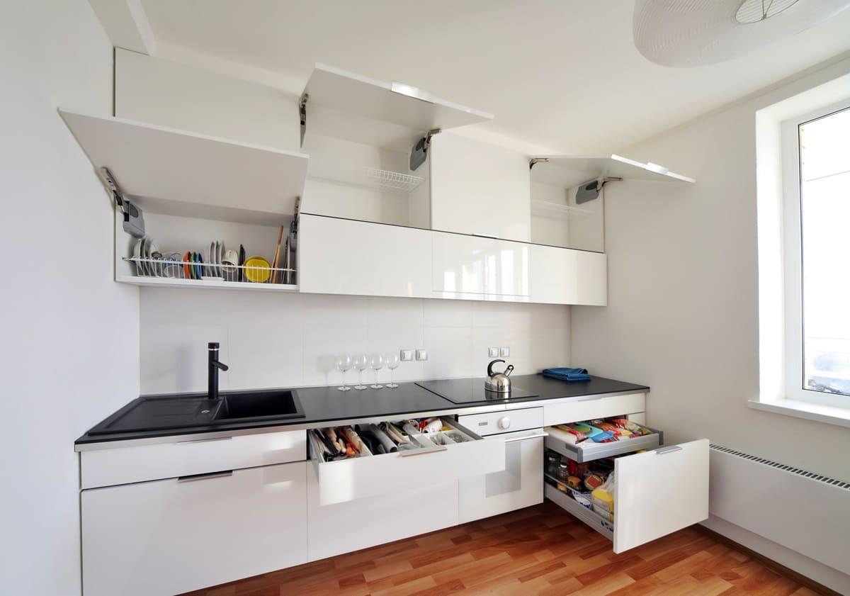 Системы хранения для кухни минимализм