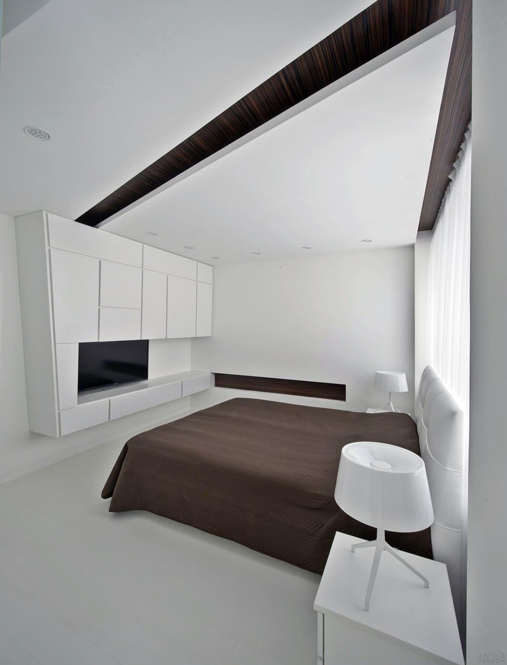 Современный дизайн спальни в стиле минимализм