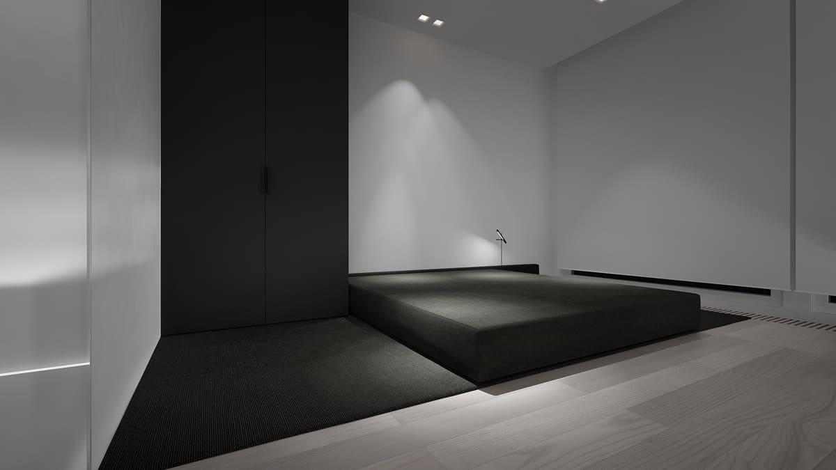Спальня в стиле минимализм - фото (17)