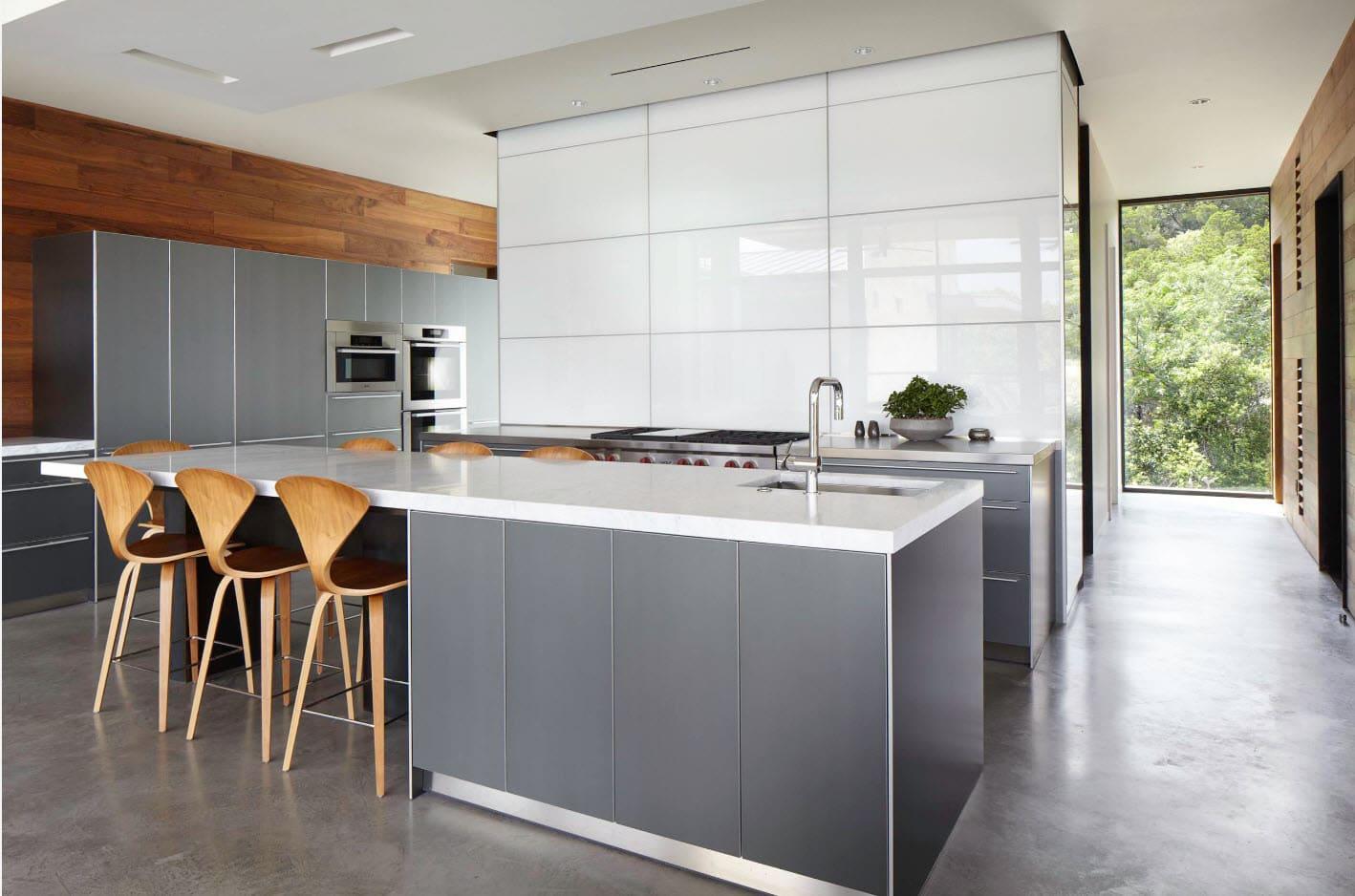 Стены кухни в стиле минимализм