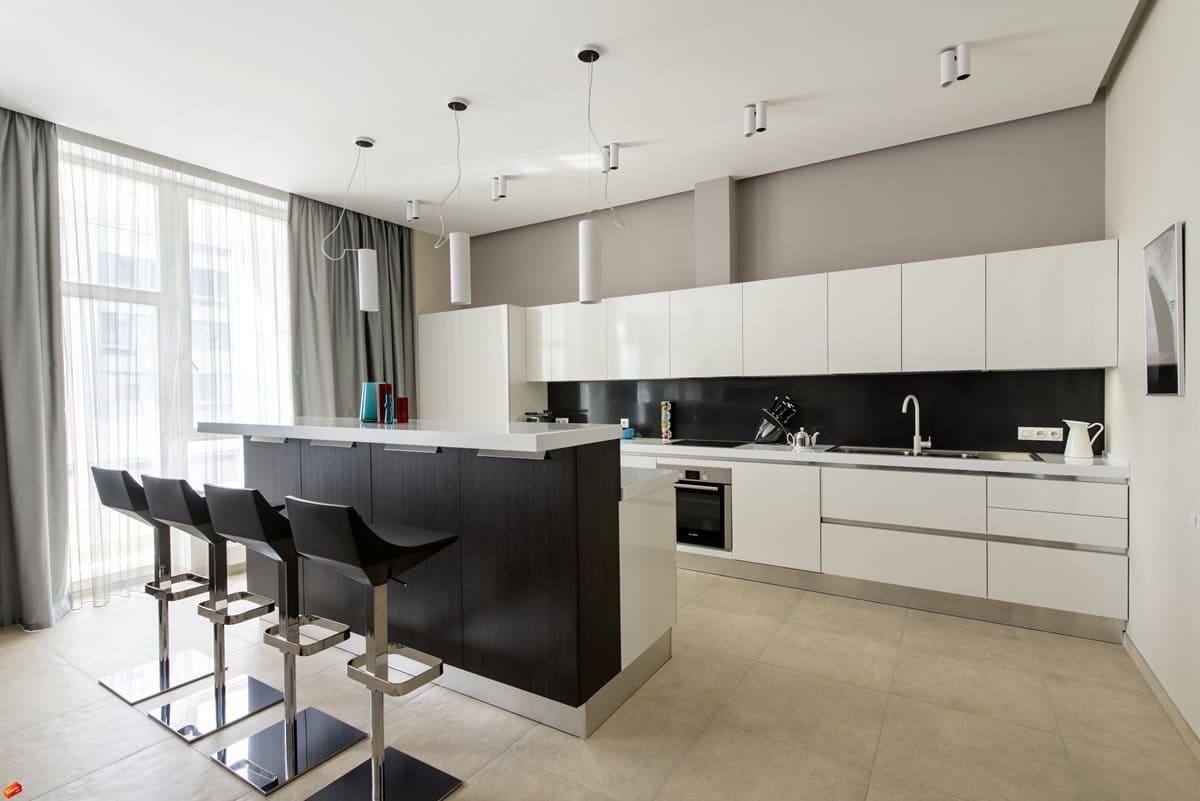 Стол-барная стойка для кухни минимализм