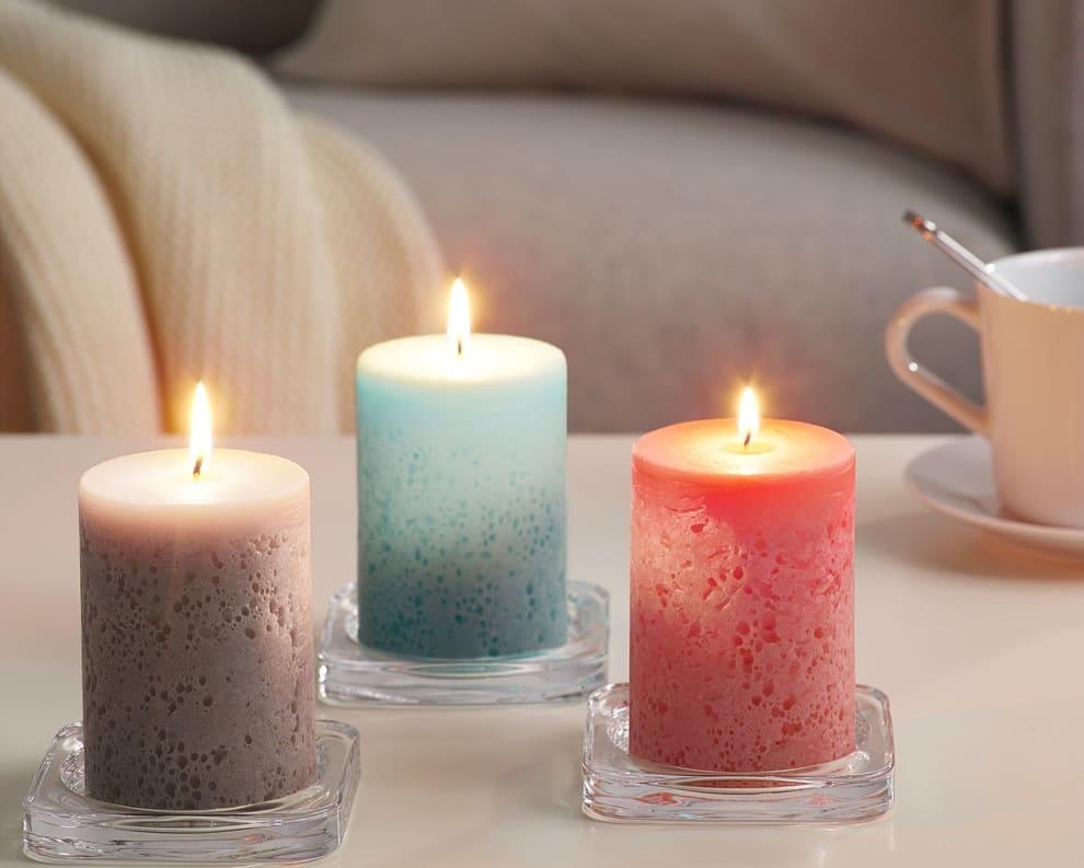 Ароматический свечи в интерьере