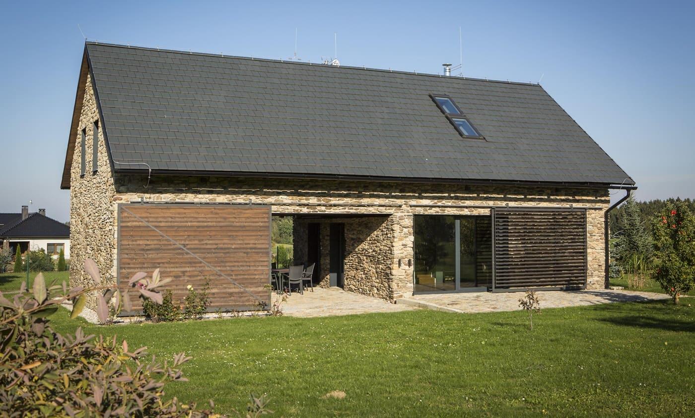 Дом облицованный камнем - фото (1)
