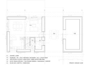 Дом облицованный камнем - план первого этажа