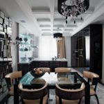 Дизайн кухни в стиле арт-деко - фото (1)