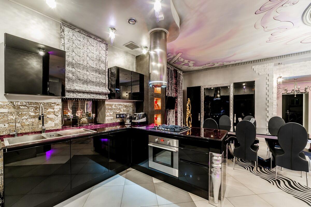 Дизайн кухни в стиле арт-деко - фото (10)
