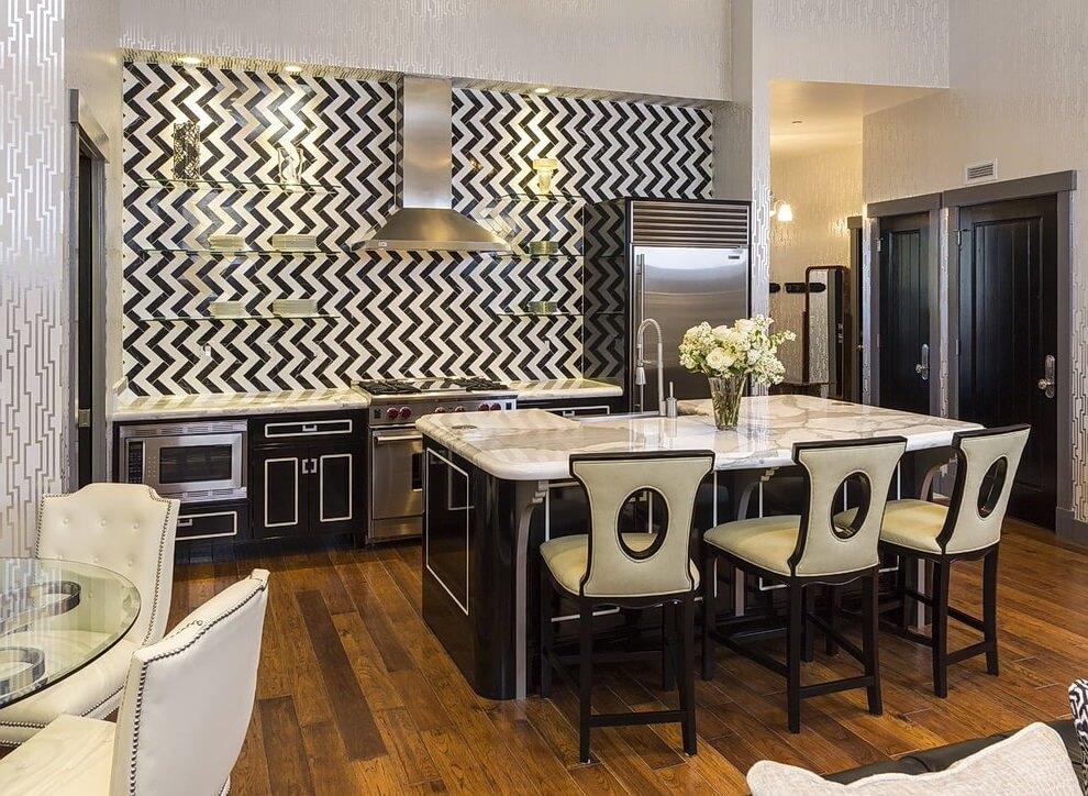 Дизайн кухни в стиле арт-деко - фото (19)