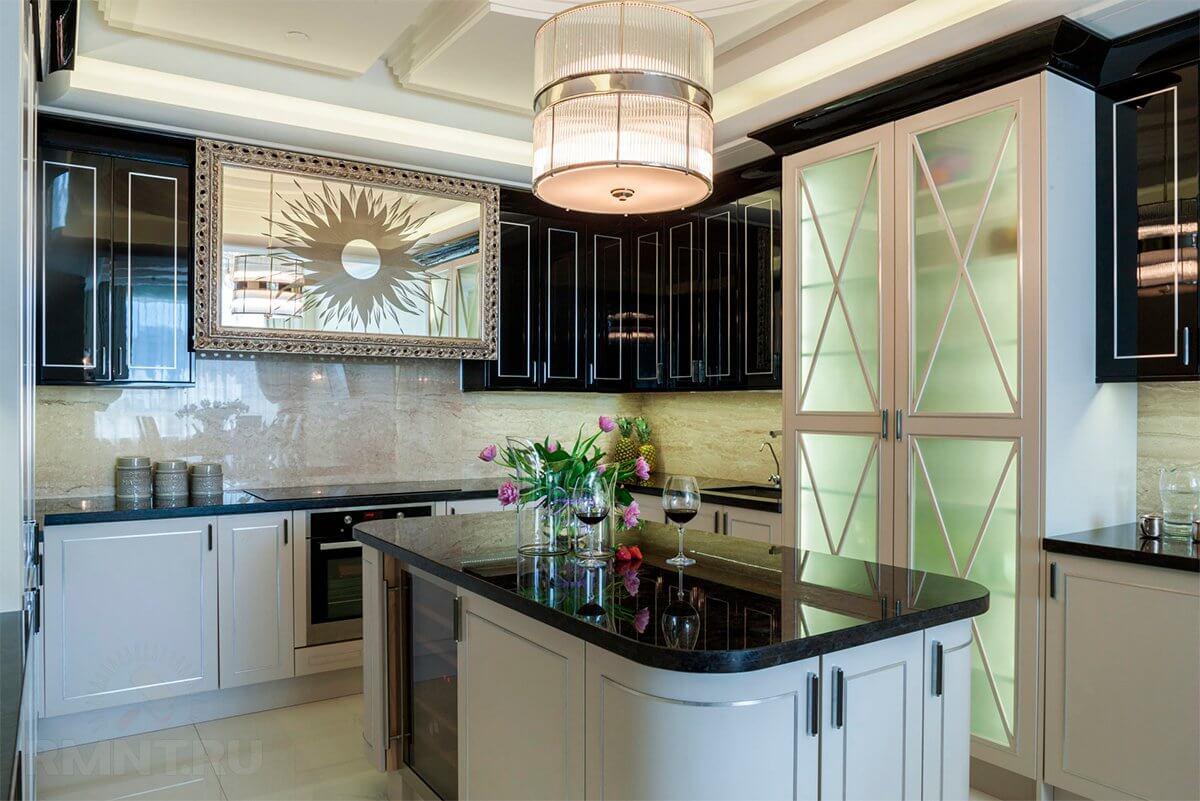 Дизайн кухни в стиле арт-деко - фото