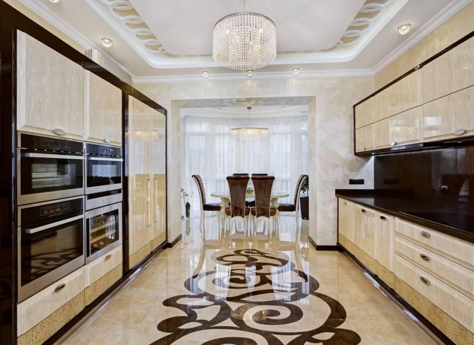 Кухня в стиле арт-деко - гарнитур