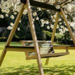 Деревянные садовые качели (3)