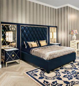 Дизайн спальни в стиле арт-деко, фото