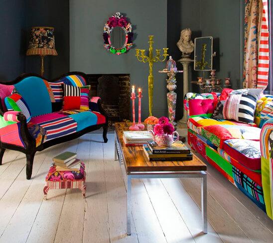 Стиль мемфис в интерьере – обилие красок и геометрии